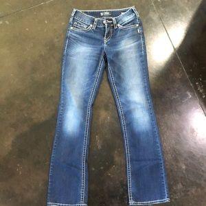 Women's silver jeans